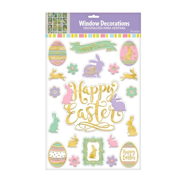 Happy Easter Embossed Window Decorations